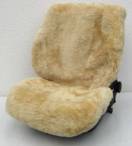 Rökü 2x LUXUS 100% echt LAMMFELL-Sitzbezug dicht dick passend (Sekt)