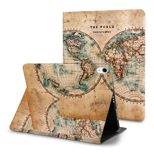 Case For Ipad Air 4th Generation,Genuine Old Stained World Map Dated Ipad Air 4 Case (10.9-inch,2020)/ipad Pro 11' 2018 With Pencil Holder,trifold Stand Smart Case With Soft Tpu Back