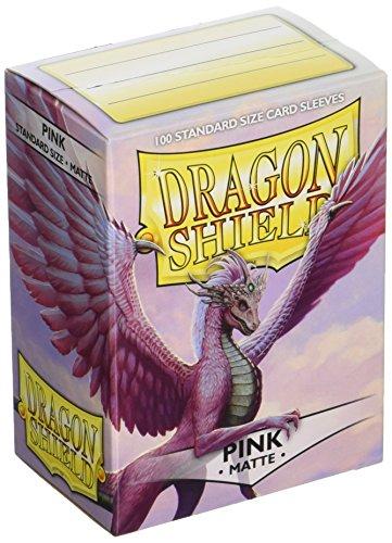 Dragon Shield Paquete de 100 Fundas estándar para Cartas 11012 Color Rosa Mate