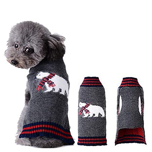 ABRRLO Jersey de punto para perros para fiestas de Navidad, invierno, regalo para perros pequeños y medianos.