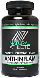 Natural Proteolytic Systemic Enzymes with Probiotics Supplement | Extra Strength Inflammation Relief for Aches, Soreness, Circulation (120 Capsules)