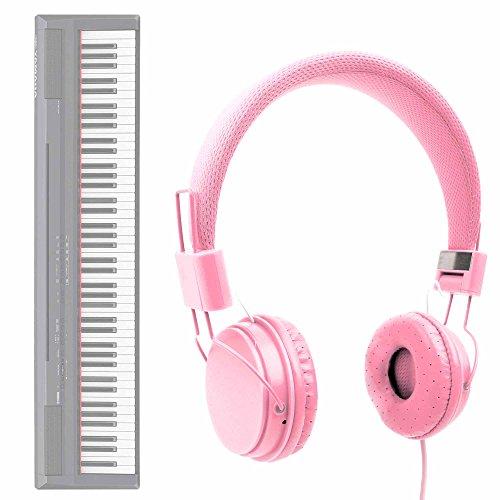 DURAGADGET Auriculares De Diadema En Rosa para Teclado/Piano Eléctrico Yamaha NP-V80 NPV-80,...