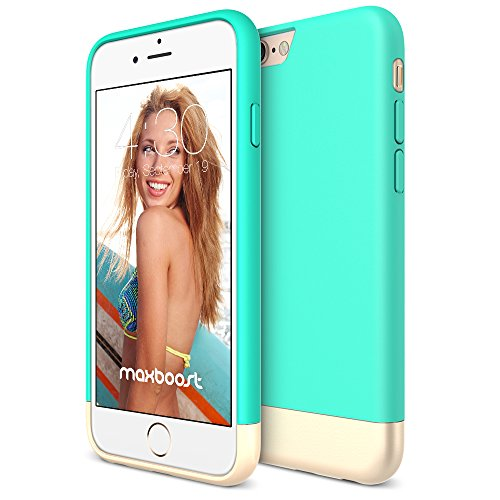 iPhone 6S Case, Maxboost [Vibrance S - Mint/Champagne Gold] Protective Slider Case Soft-Interior Scratch Protection Finished Hard Case for Apple iPhone 6 & iPhone 6S 4.7-Inch