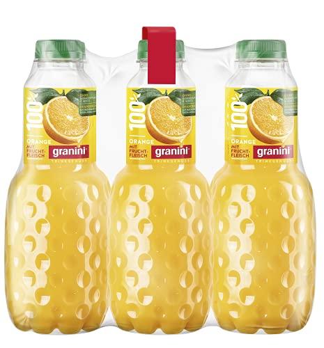 Granini Trinkgenuss Orange mit Fruchtfleisch (100% Saft) PET, 6er Pack (6 x 1 l)