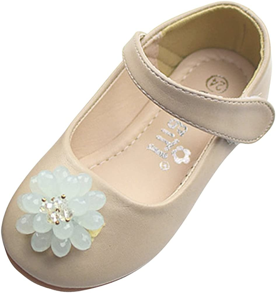 Tortor 1Bacha Kid Girls' Bead Flower Princess Dress Flat Shoes Mary Jane (Toddler/Little Kid)