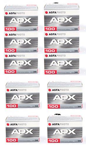 AgfaPhoto APX 100 Prof 135-36 schwarz / weiß Film (10-er Pack bis zu 360 Aufnahmen)