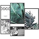decomonkey | Poster 5er – Set mit schwarzem Rahmen