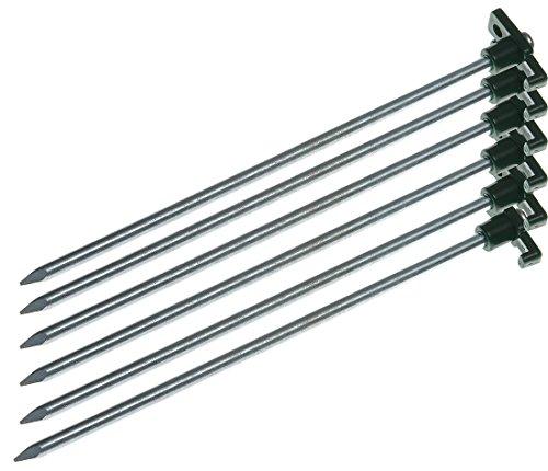12 St. Campiro® Felsbodenhering 25 cm Zeltnägel Zeltheringe Felsnagel Hering