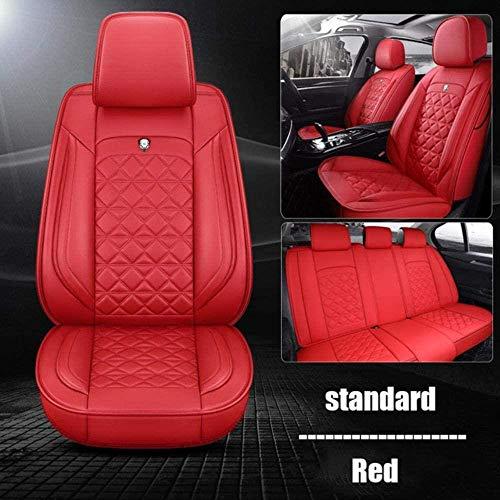 SUNQQJ Fundas Asientos Coche Universales para BMW E30 E34 E36 E39 E46 E60 E90 F10 F30 X3 X5 X6 X1 530I Accesorios Coche, Edición estándar roja