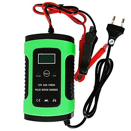 Cargador de batería para automóvil, Cargador de batería automático de 12 V con Carga de 3 etapas, Cargador de Refuerzo de Banco de energía de Arranque automático portátil