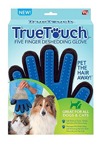 True touch Deshedding Guanto per Delicata ed Efficace Pet Grooming