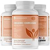 Pure Turmeric Curcumin BCM-95 1000mg Supplement + Black Pepper, Organic, Vegan, 60 Veg. Capsules, Pure Micronutrients