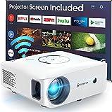 Vidéoprojecteur WiFi, VANKYO Full HD 1080P Rétroprojecteur Projecteur Portable 5G ±50°4D Correction Trapèze Home Cinéma Multimédia Compatible HDMI AV USB pour Présentation PPT iOS Android