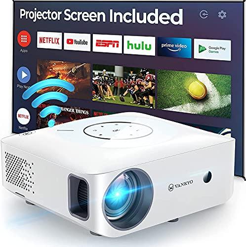 VANKYO Full HD 1080P Proyector portátil 5G ±50°4D Corrección Trapeze Home Cinema Multimedia Compatible HDMI AV USB para presentación PPT iOS Android