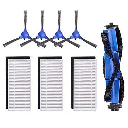 DingGreat Ersatzteile für Eufy RoboVac 11s RoboVac 30 RoboVac 30C RoboVac 15C Roboter Staubsauger Zubehör Kit Packung mit 1 Rollbürste 3 Filter Set 4 Seitenbürsten