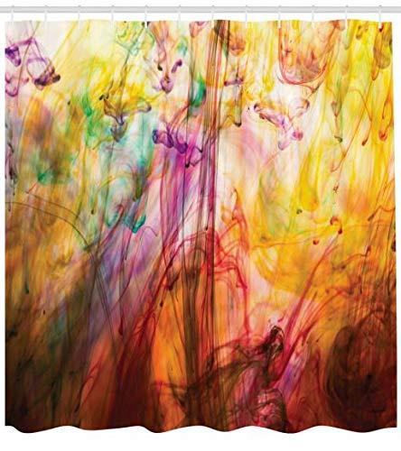 ABAKUHAUS Modern Duschvorhang, Regenbogen Bild, Wasser Blickdicht inkl.12 Ringe Langhaltig Bakterie & Schimmel Resistent, 175 x 220 cm, Multicolor