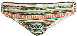 Adult Green Multi Color Aztec Print Side Ring Bikini Bottom Womens XS-XL