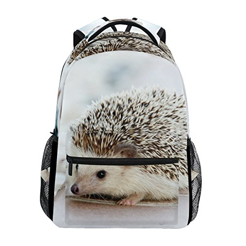 Hedgehog School Backpack for Boys Girls Bookbag Travel Bag