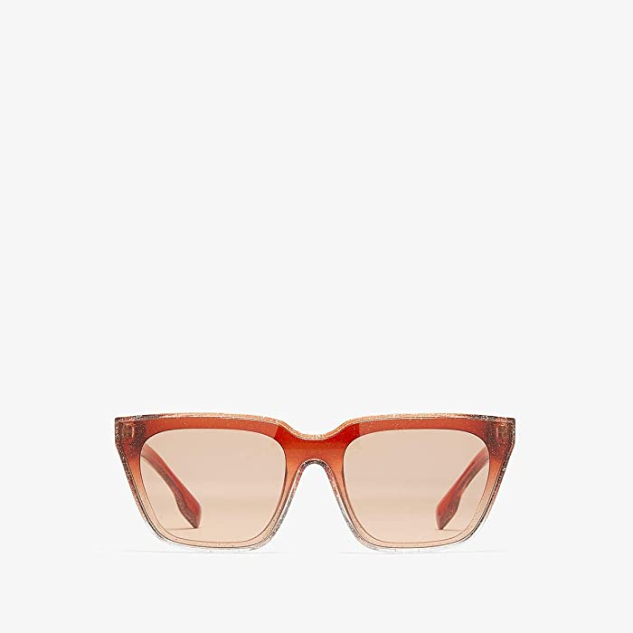 Burberry  0BE4279 (Glitter Transparent/Top Gradient/Brown) Fashion Sunglasses