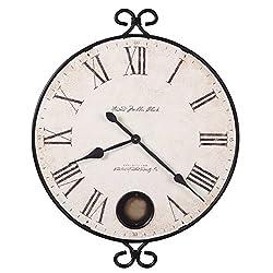 Howard Miller Magdalen Oversized Wall Clock 625-310 – Wrought-Iron with Quartz Movement