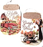Wall sign canning jars Harvest Thanksgiving Blessed Christmas Farm Country Canning Family Togetherness