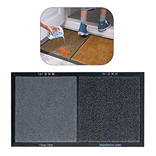 LCZ Dae Fußmatte zur Reinigung der Vordertür, wasserabsorbierendes Kissen, Matten und Teppichböden, Schuhe, Zapatose, Matt, Desinfektionsmittel, Schuhe, Grau