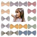 YHXX YLEN 16Pcs Baby Mädchen Haarschleife Clips Haar Alligator Haarspangen für Kleinkinder Kleine Mädchen Schulmädchen Teenager