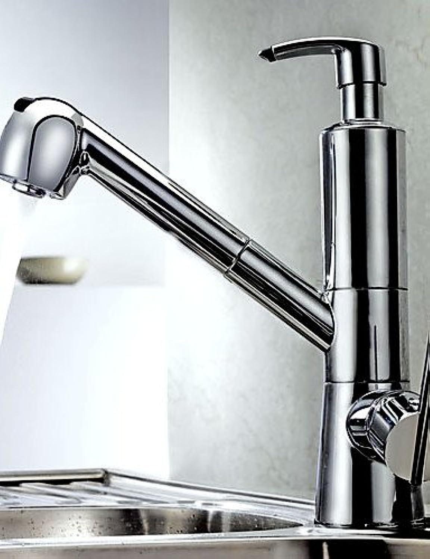 Contemporary Chrome Finish Centerset One Handle Kitchen Faucet