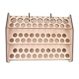 Wooden Storage Rack Stand 74 Holds Acrylic Paint Bottle Model Hobby Parts Painting Brush Tidy Holder #124