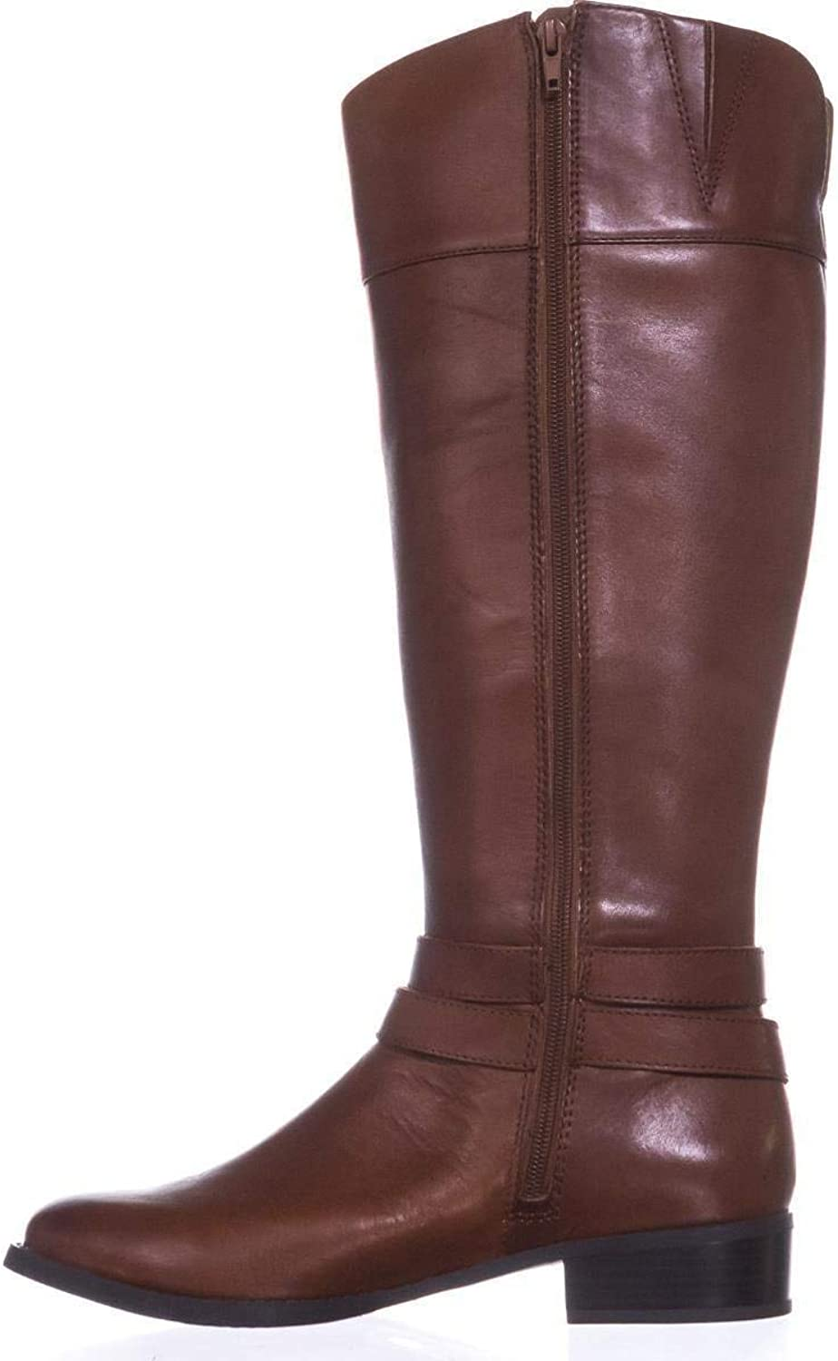 INC International Concepts I35 Frankii Buckle Riding Boots Cognac