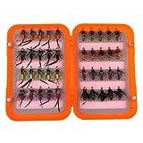 AMAZING1 40 unidades de cabeza de cuentas ninfa moscas trucha mosca pesca mosca mosca biónica cebo de pescado