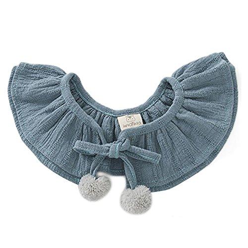 Bavoir Bébé,Vocoal® Mignon Vêtements de Faux Collier Col de Bricolage pour Bébé Unisexes(Bleu)