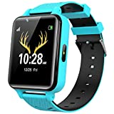INIUPO Kids Smart Watch for Girls and Boys with Games Music Player Camera HD Touch Screen Two Way Call Phone Watch SOS Call Game Smartwatch for Kids (Blue)