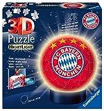 Nachtlicht FC Bayern München 3D Puzzle-Ball 72 Teile: Erlebe Puzzeln in der 3. Dimension!