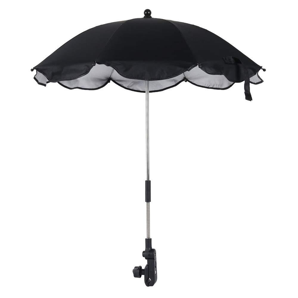 Sanmenxiadongjun Baby Comfort Universal Stroller Umbrella Anti UV 50 +, Universal Stroller Umbrella with Adjustable Arm, Folding Stroller Parasol for Outdoor Beach Outdoor Garden