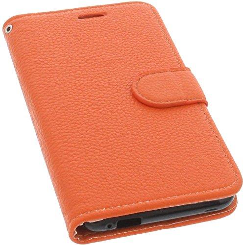 foto-kontor Tasche kompatibel mit Gigaset GS170 GS160 / GS170 Book Style orange Schutz Hülle Buch