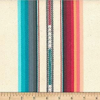 Laura & Kiran 0515050 Southwest Stripes Silver City Multi Fabric by The Yard, Cream Multicolor