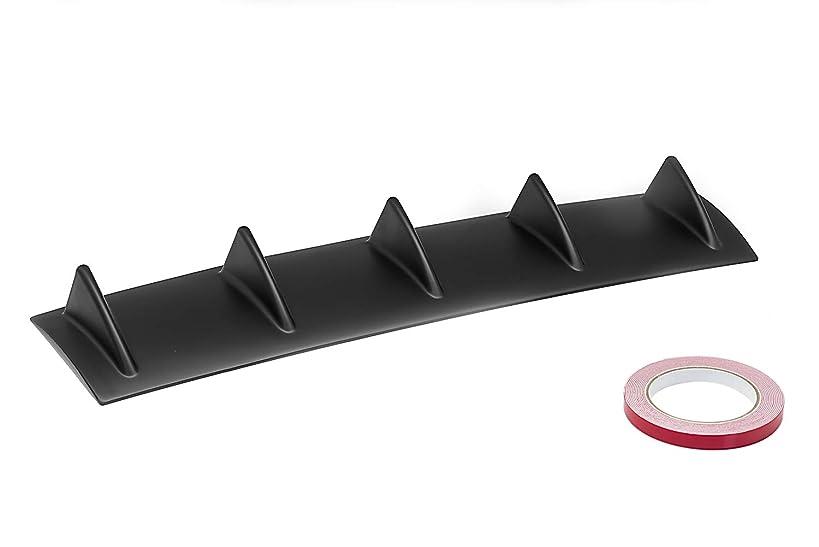 OriginalEuro Universal Rear Bumper Lip Diffuser 5 Shark Fin Wing Black Matt Racing Look
