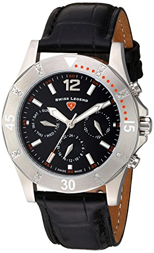 Swiss Legend Damen Analog Quarz Uhr mit Leder Armband 16016SM-01-OA