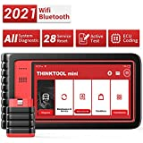 Thinktool Mini All System Diagnostic Scanner for All Cars with 28 Service Reset Functions,Scan Tool with Bi-Directional Test and ECU Coding (Optional), Car Scanner with ABS Bleeding/Oil Light Service
