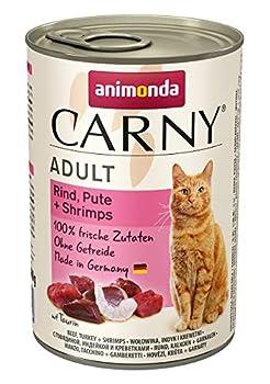 Animonda Carny Croquettes, Nourriture humide pour Chat Adulte, Boeuf, dinde + crevettes, 6 x 400 g