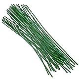 KINGLAKE Lot de 50 tiges de support pour plantes vertes 60 cm