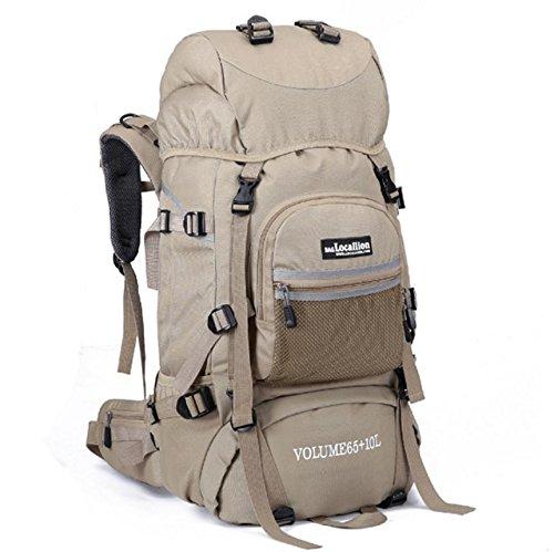 Support de sac d'alpinisme camping Outdoor randonnée 85L sac à dos de randonnée voyage bagages , khaki