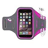 Haissky Armband de Téléphone Brassard de Sport Anti-Sueur avec Porte-clés et Sangle Réglable pour iPhone X/8 Plus/7 Plus/6...