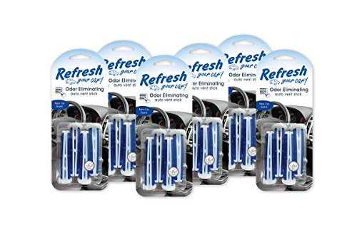 Refresh Your Car! (86588) New Car Vent Stick Air Freshener, (Pack of 6)