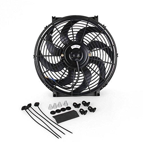 Kühlerlüfter 12v kühlerventilator 14'' universal 90W Pull/Push Schwarz