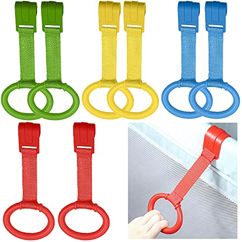 4 anillos para cuna de bebé, anillos para cuna, anillos para barrotes, anillo, manilla para niños, para ayudar a los niños a los pies