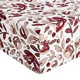 Amazon Basics - Lenzuolo con angoli in microfibra di prima qualità, 160 x 200 x 30 cm, acquerello rosso (rumba red)