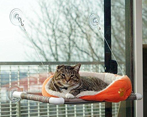 Kitty Cot Original World's Best Cat Perch (Large) Black Color