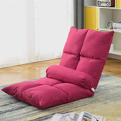 Folding Lazy Sofa Chair 5-Position Floor Folding Gaming Sofa Chair Comfortable Soft & Skin-Friendly Padded Gaming Chair Cushioned Recliner